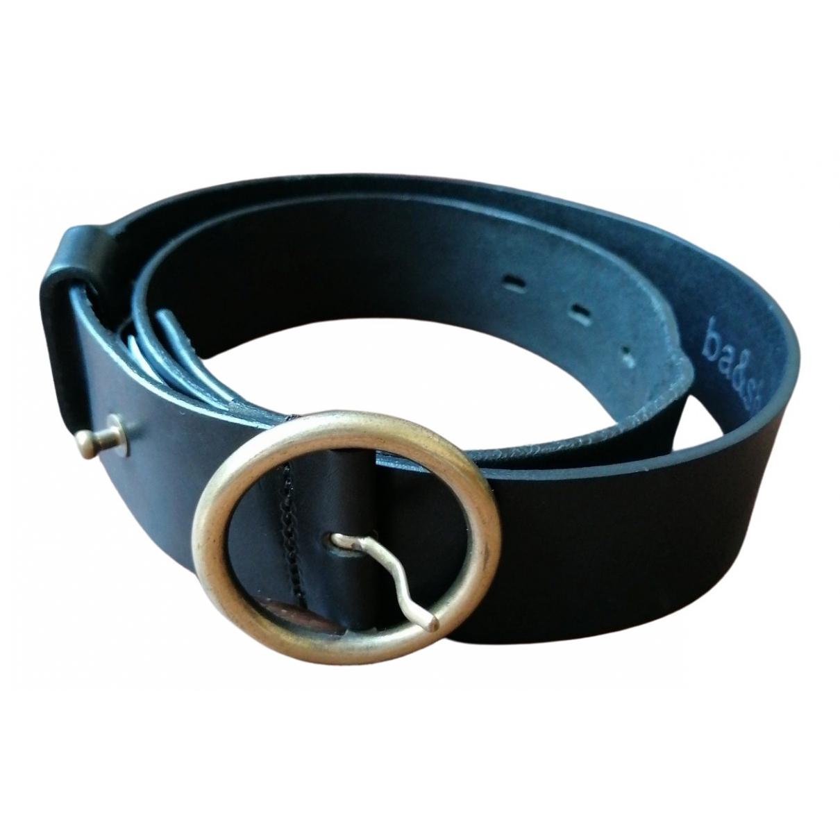 Ba&sh \N Black Leather belt for Women S International