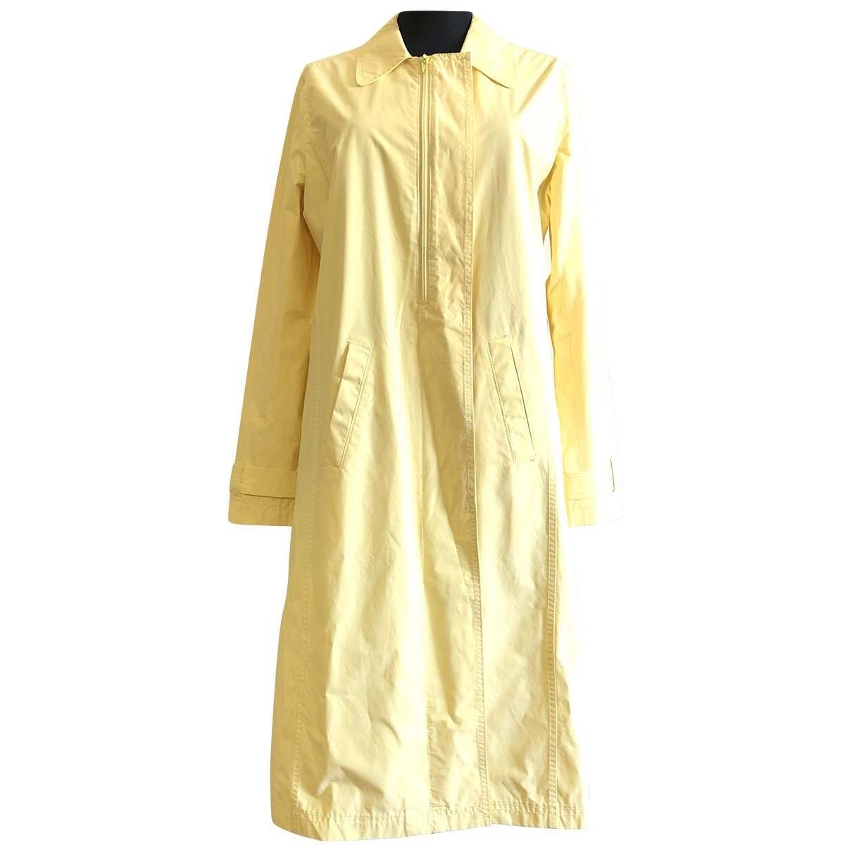 Dkny \N Yellow Cotton Trench coat for Women M International