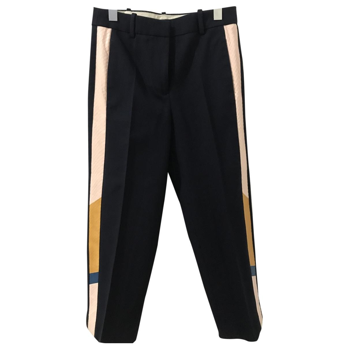 J.crew \N Blue Wool Trousers for Women 0 0-5