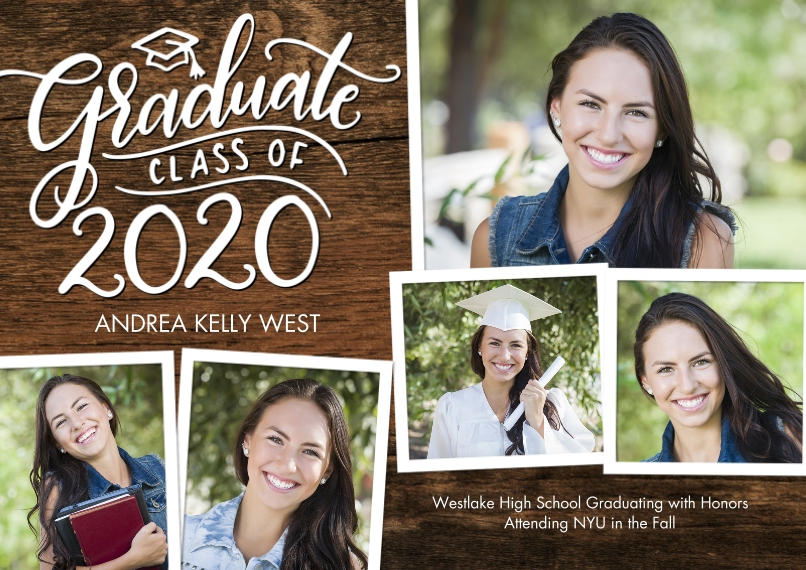 2020 Graduation Announcements 5x7 Cards, Standard Cardstock 85lb, Card & Stationery -2020 Graduate Cap by Tumbalina