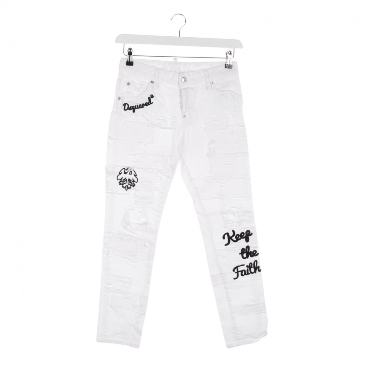 Dsquared2 \N White Cotton Jeans for Women 30 US