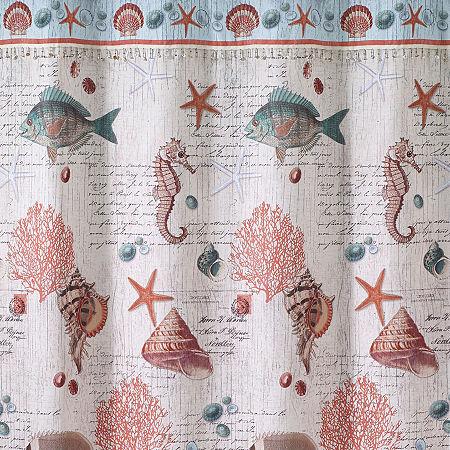 Avanti Seaside Vintage Shower Curtain, One Size , Multiple Colors