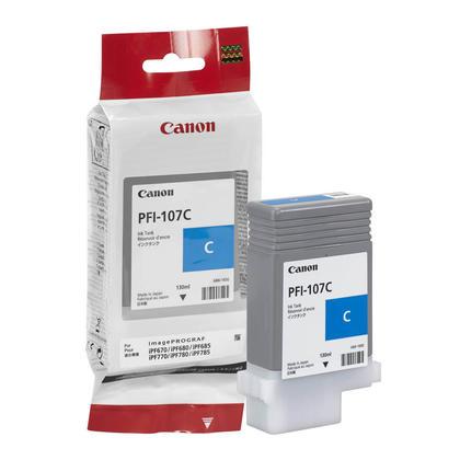 Canon PFI-107C 6706B001AA Original Cyan Ink Cartridge