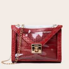 Clear Crossbody Bag With Inner Pouch