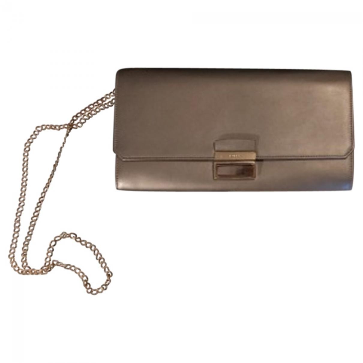 Furla \N Silver Leather Clutch bag for Women \N
