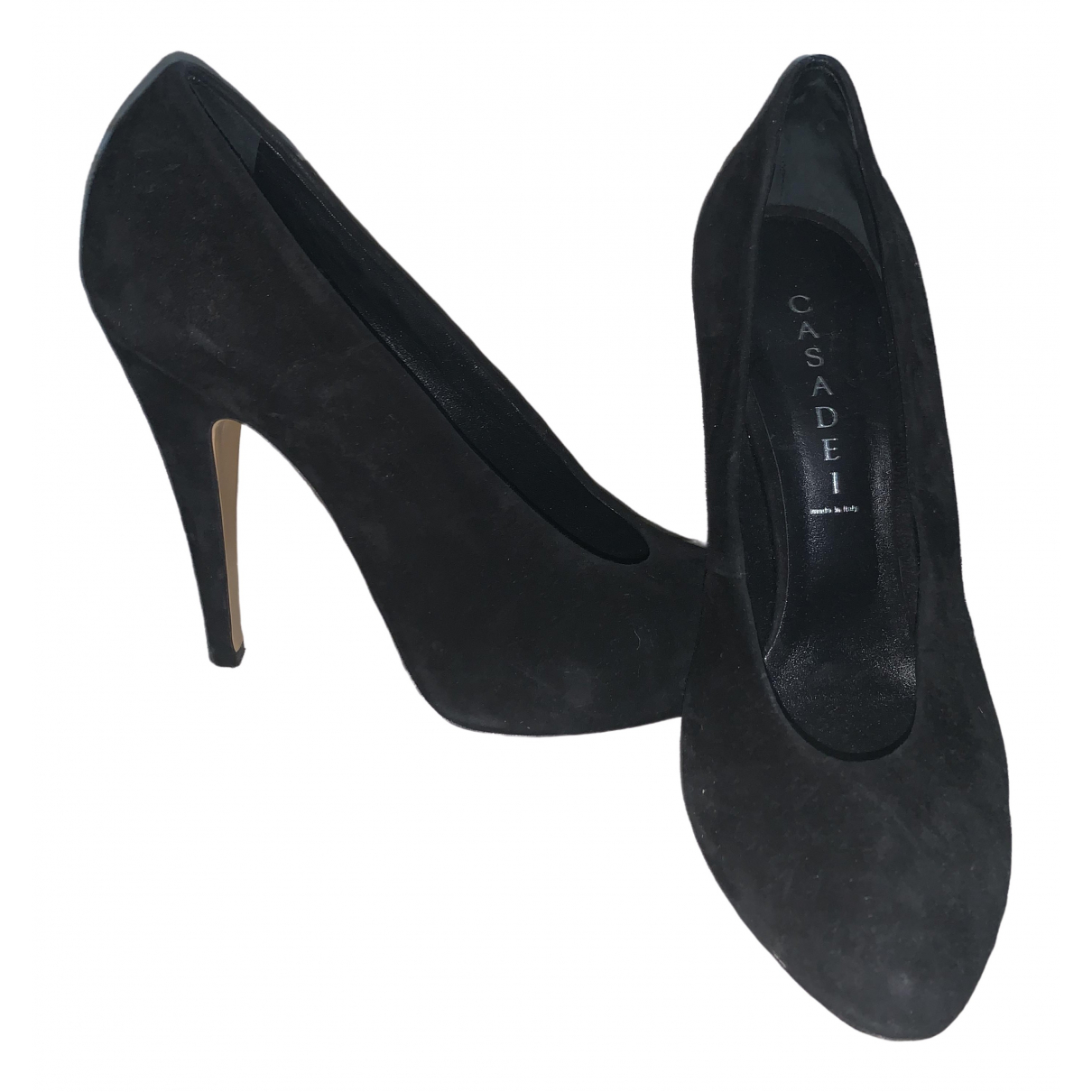 Casadei \N Black Suede Heels for Women 10 UK