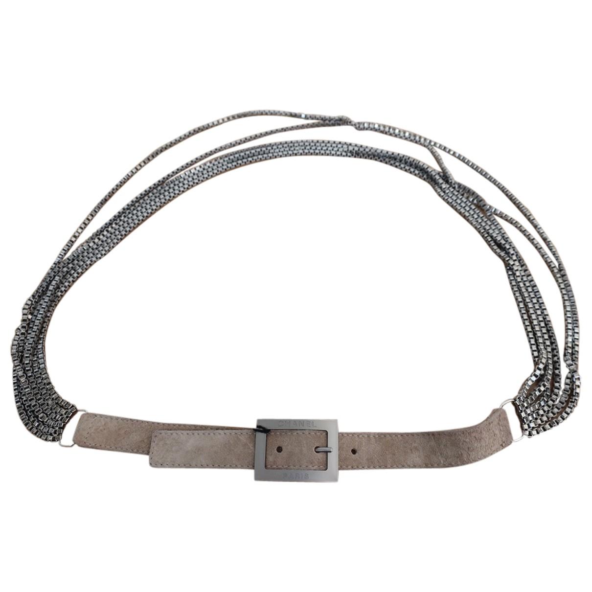Chanel \N Beige Metal belt for Women 90 cm