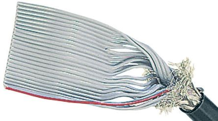 HARTING 10 Way Screened Round Ribbon Cable, 12.7 mm Width
