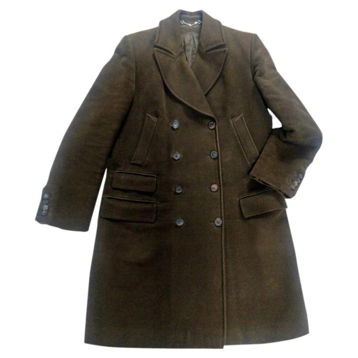 Gucci \N Khaki Cotton coat for Women 44 IT