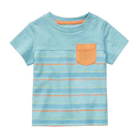 Okie Dokie Baby Boys Short Sleeve T-Shirt, 9 Months , Blue