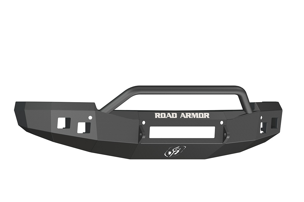 CHEVY Front Non-Winch Bumper Square Light Ports 1500 SILVERADO 14-16 BLACK Pre-Runner Guard Road Armor 314R4B-NW Stealth Series
