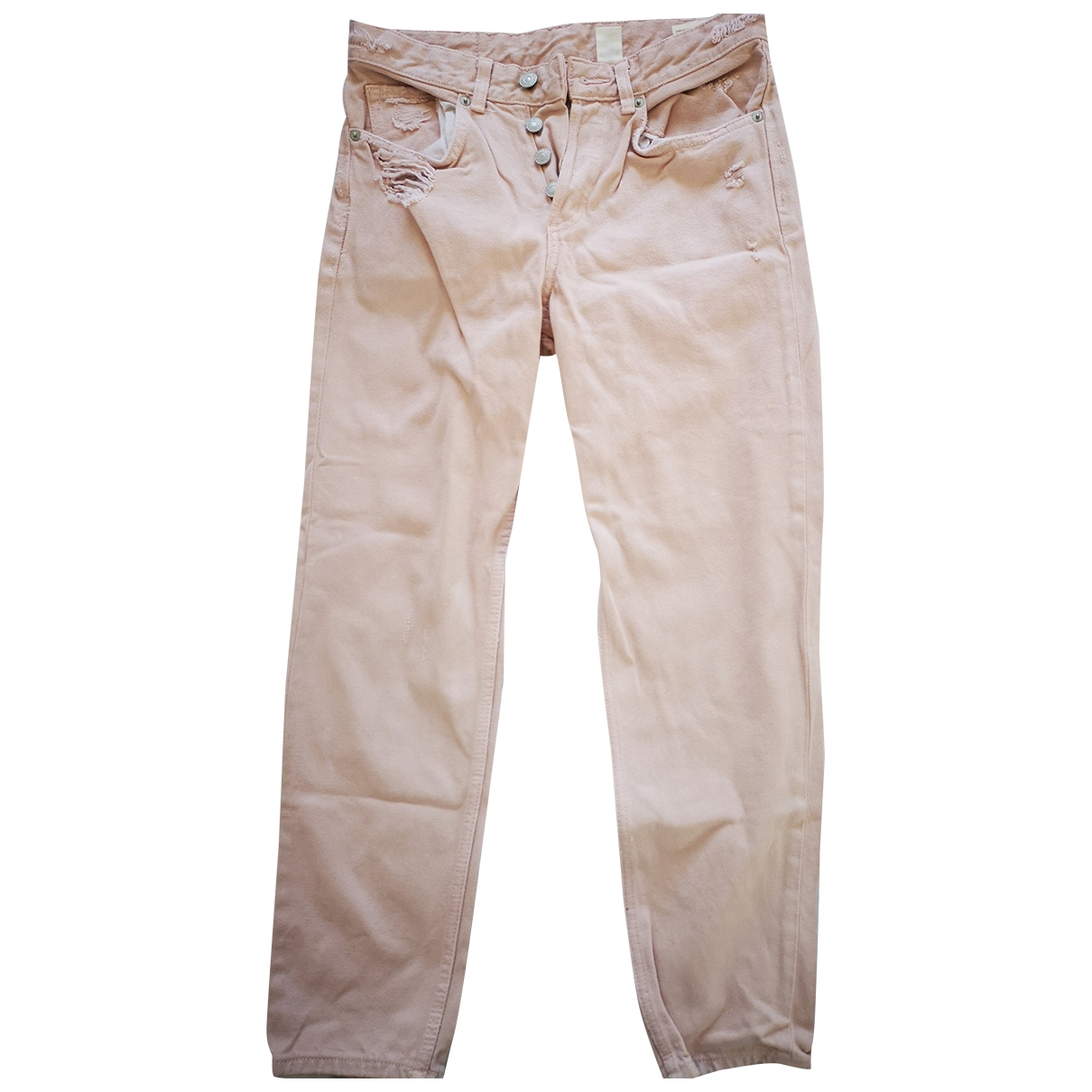 Non Signé / Unsigned \N Pink Cotton Jeans for Women 25 US
