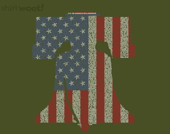 Liberty Bell Remix - Olive T Shirt