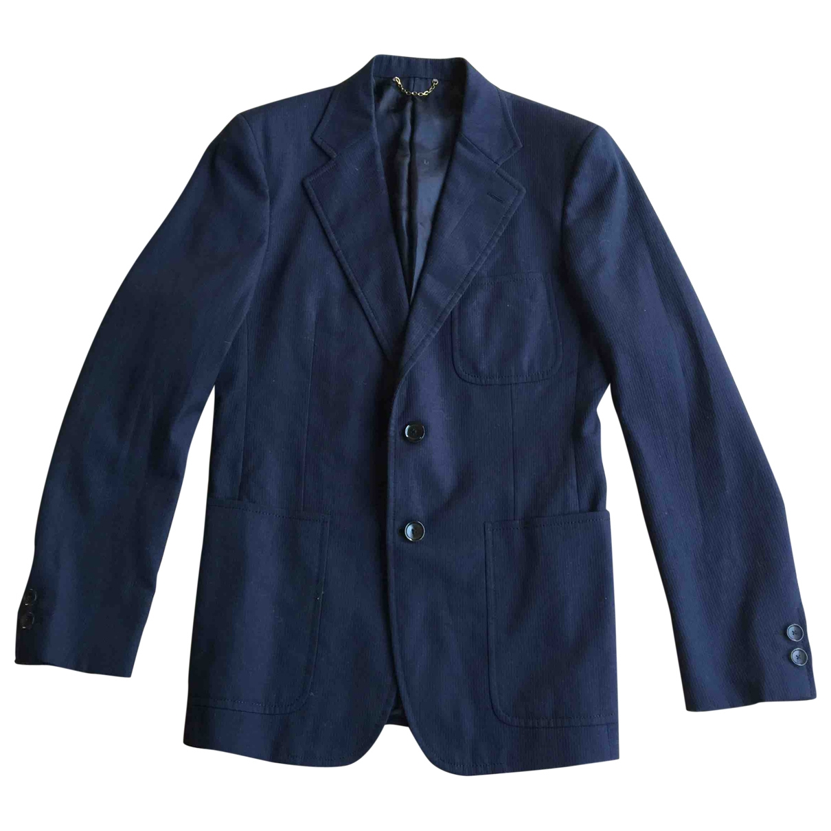 Louis Vuitton \N Navy Cotton jacket  for Men 48 IT