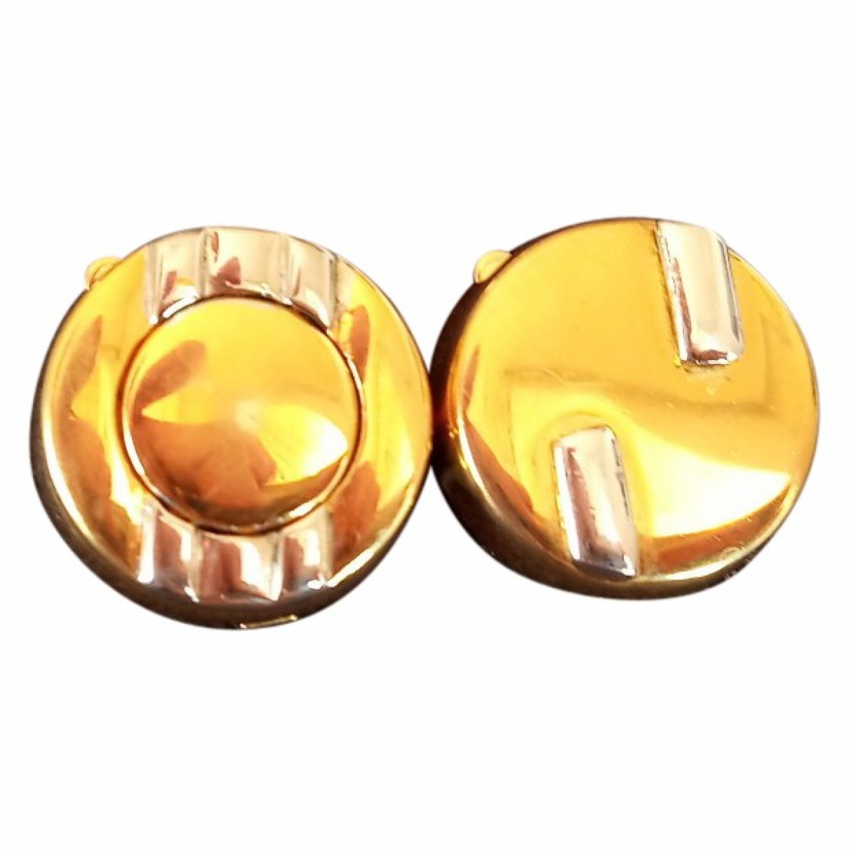 Non Signé / Unsigned \N Gold Gold plated Cufflinks for Men \N