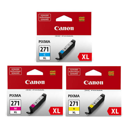 Canon PIXMA MG6822 Original Colour Ink Cartridges C/M/Y Combo, High Yield