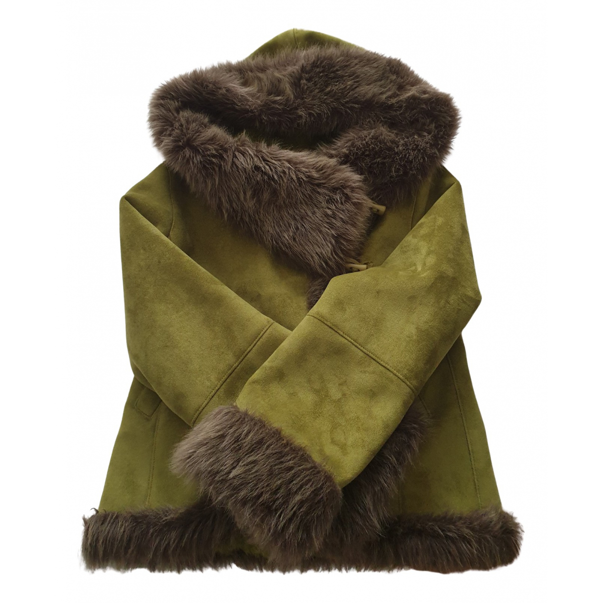 Non Signé / Unsigned \N Green Faux fur coat for Women 38 FR