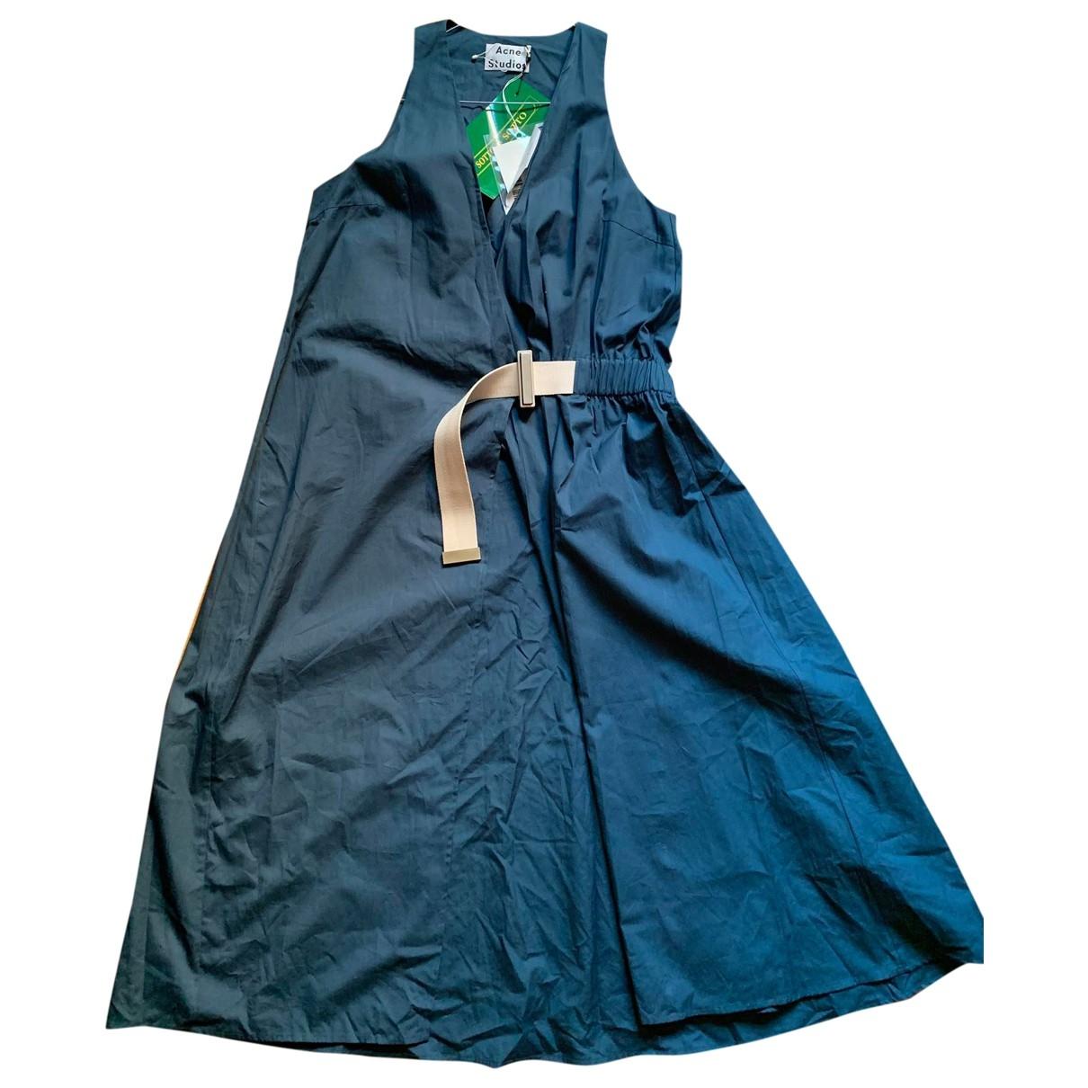 Acne Studios \N Green Cotton dress for Women 38 FR