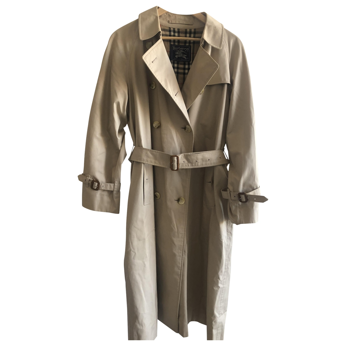 Burberry \N Beige Cotton Trench coat for Women 42 FR