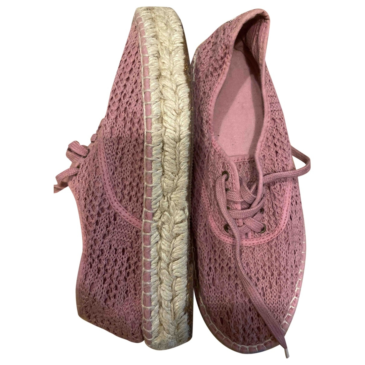 Non Signé / Unsigned \N Pink Cloth Espadrilles for Women 39 IT