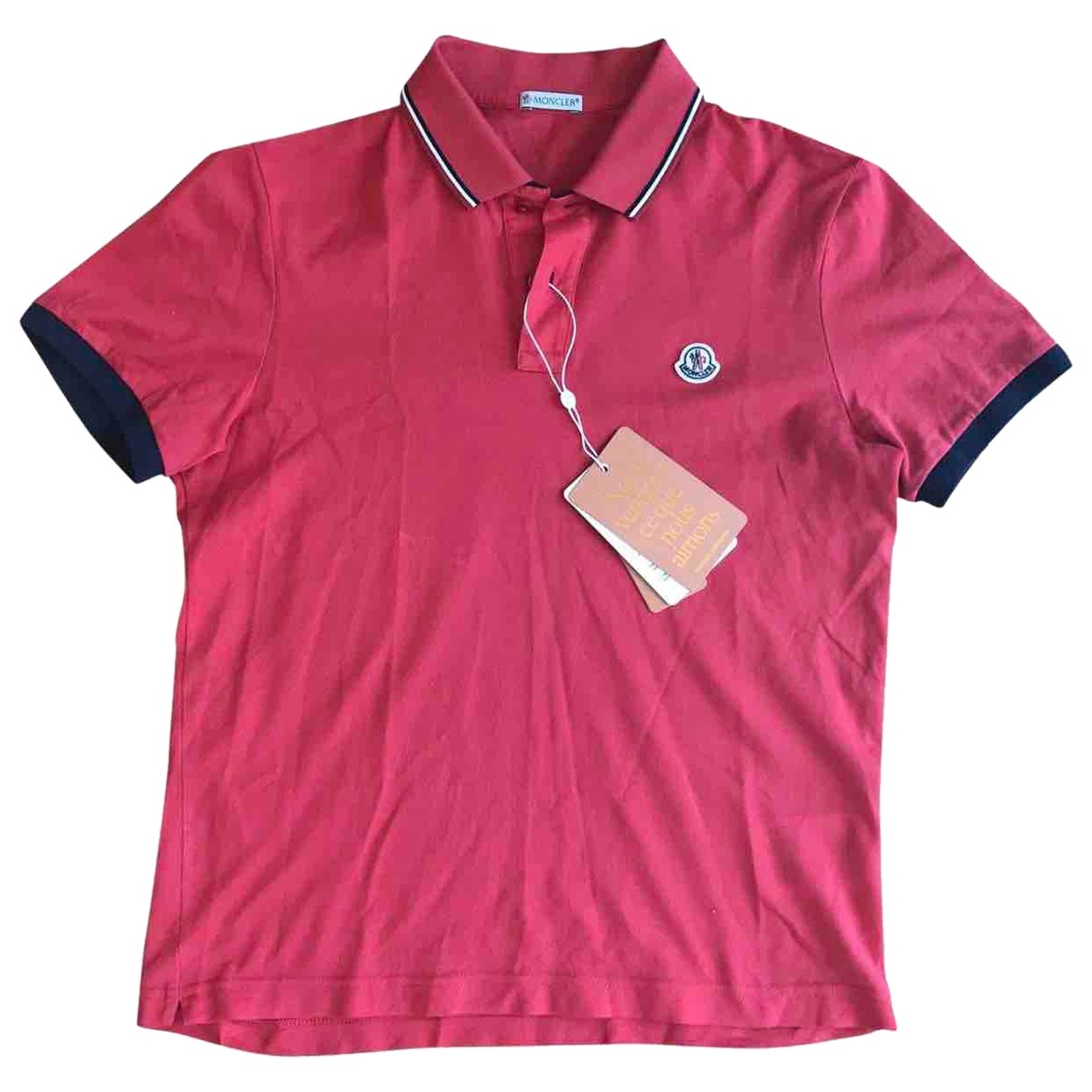 Moncler \N Red Cotton Polo shirts for Men S International