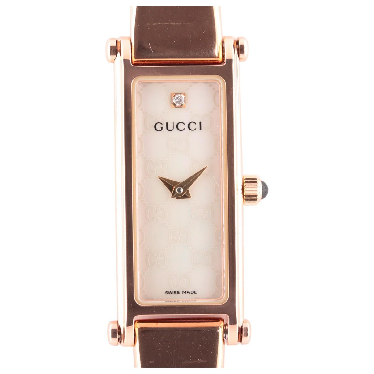 Gucci \N Pink Steel watch for Women \N