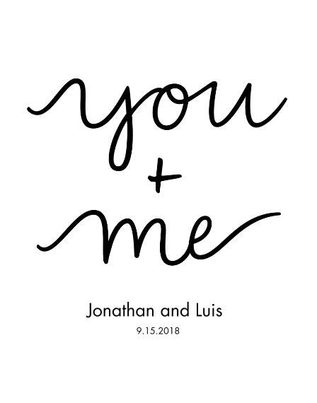 Non-Photo 11x14 Poster(s), Board, Home Décor -You+Me