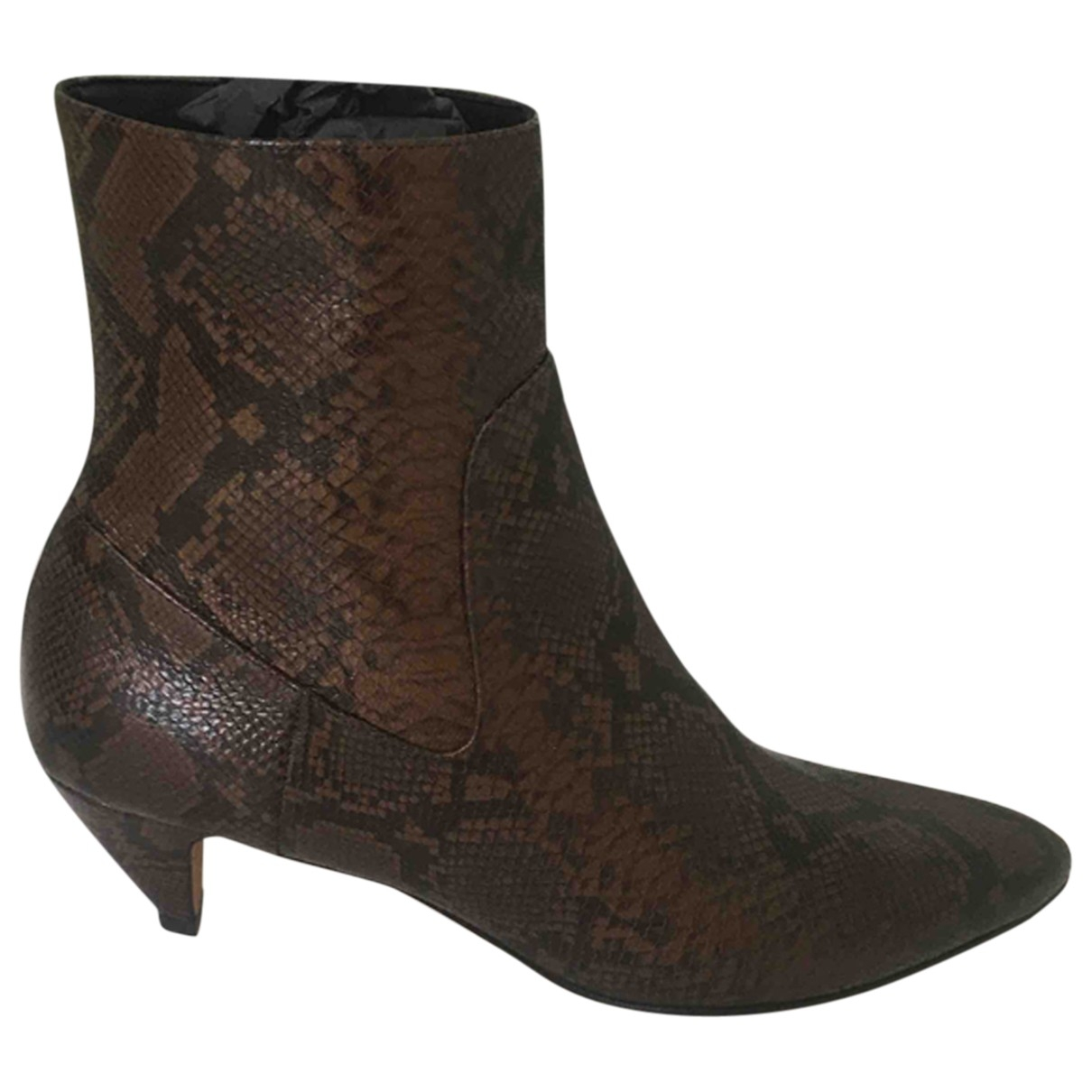 Vince \N Brown Leather Ankle boots for Women 41 EU