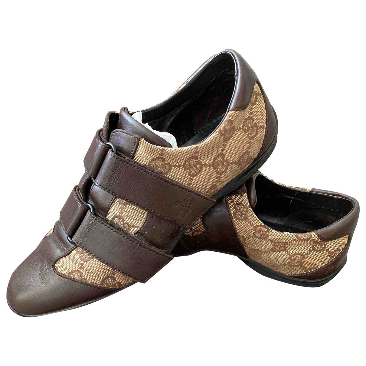Gucci \N Brown Cloth Trainers for Women 35 EU