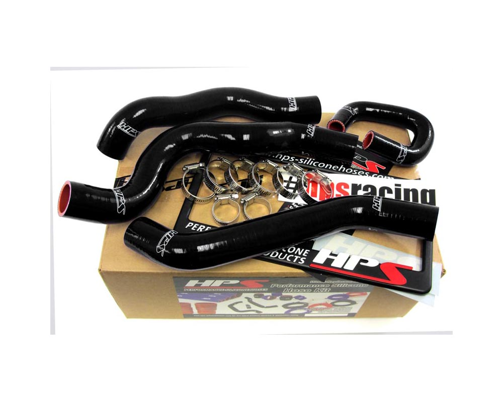 HPS Black Reinforced Silicone Radiator Hose Kit Coolant for Chevy 08-10 Cobalt SS 2.0L Turbo