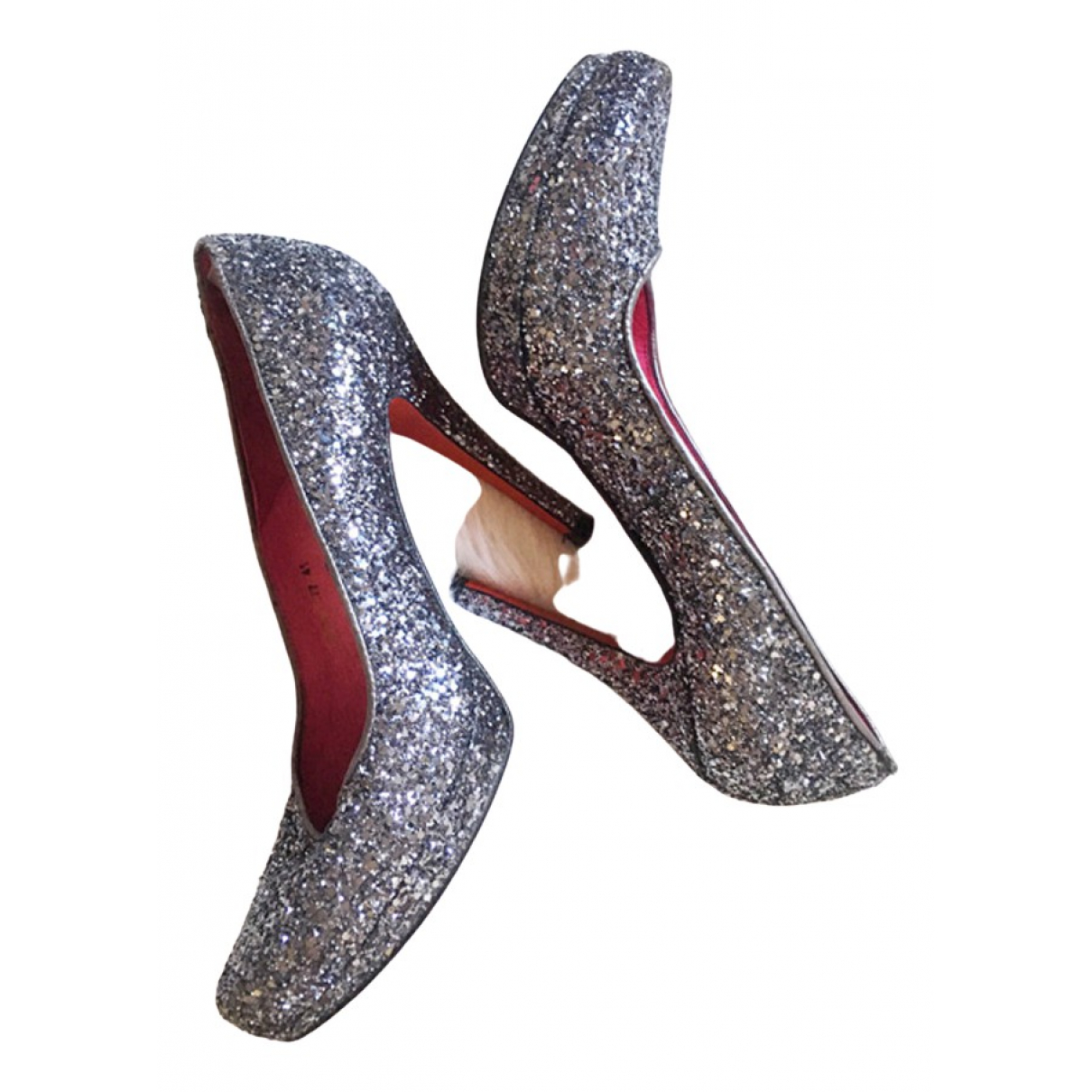 Buffalo \N Silver Glitter Heels for Women 41 EU