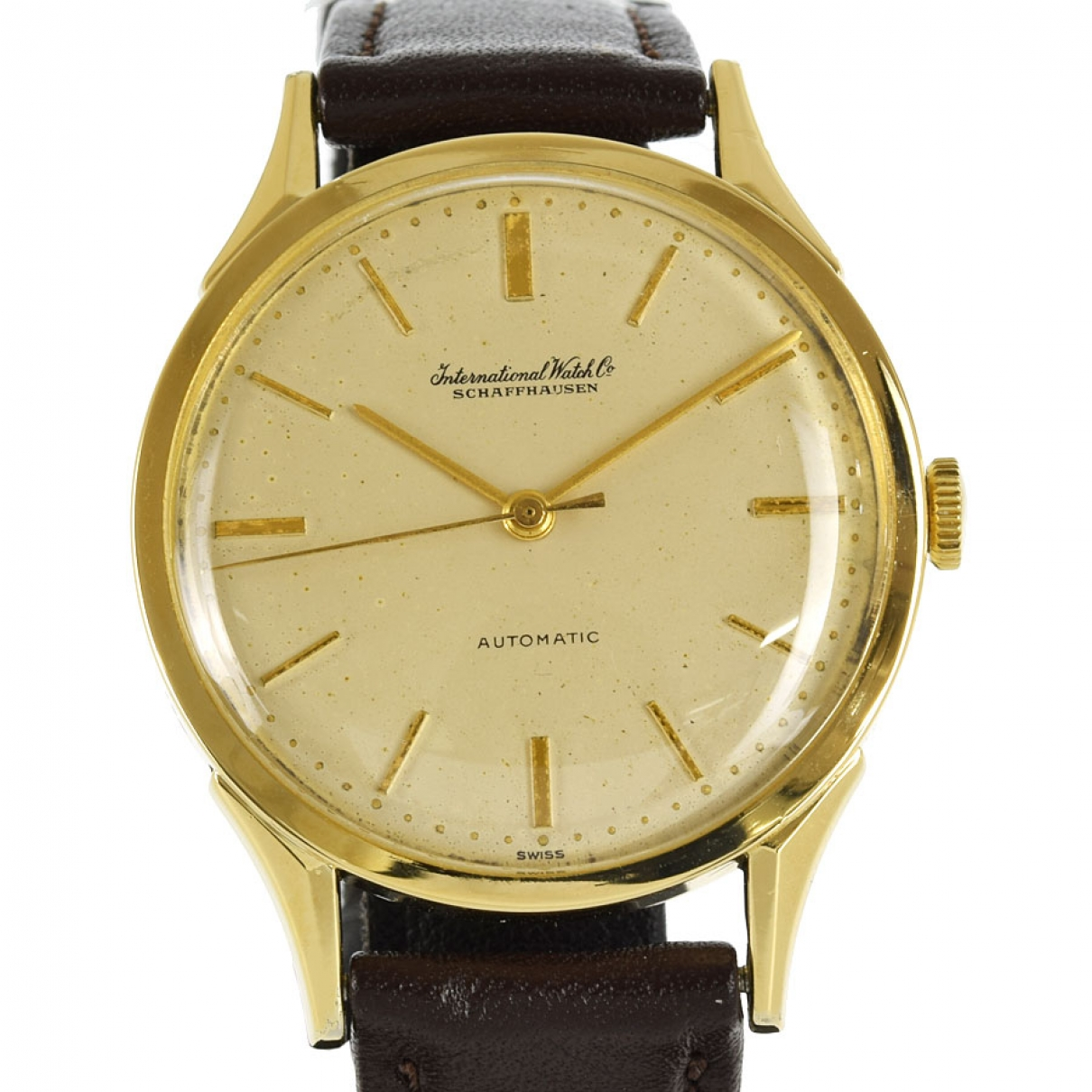 Iwc \N Beige Yellow gold watch for Men \N