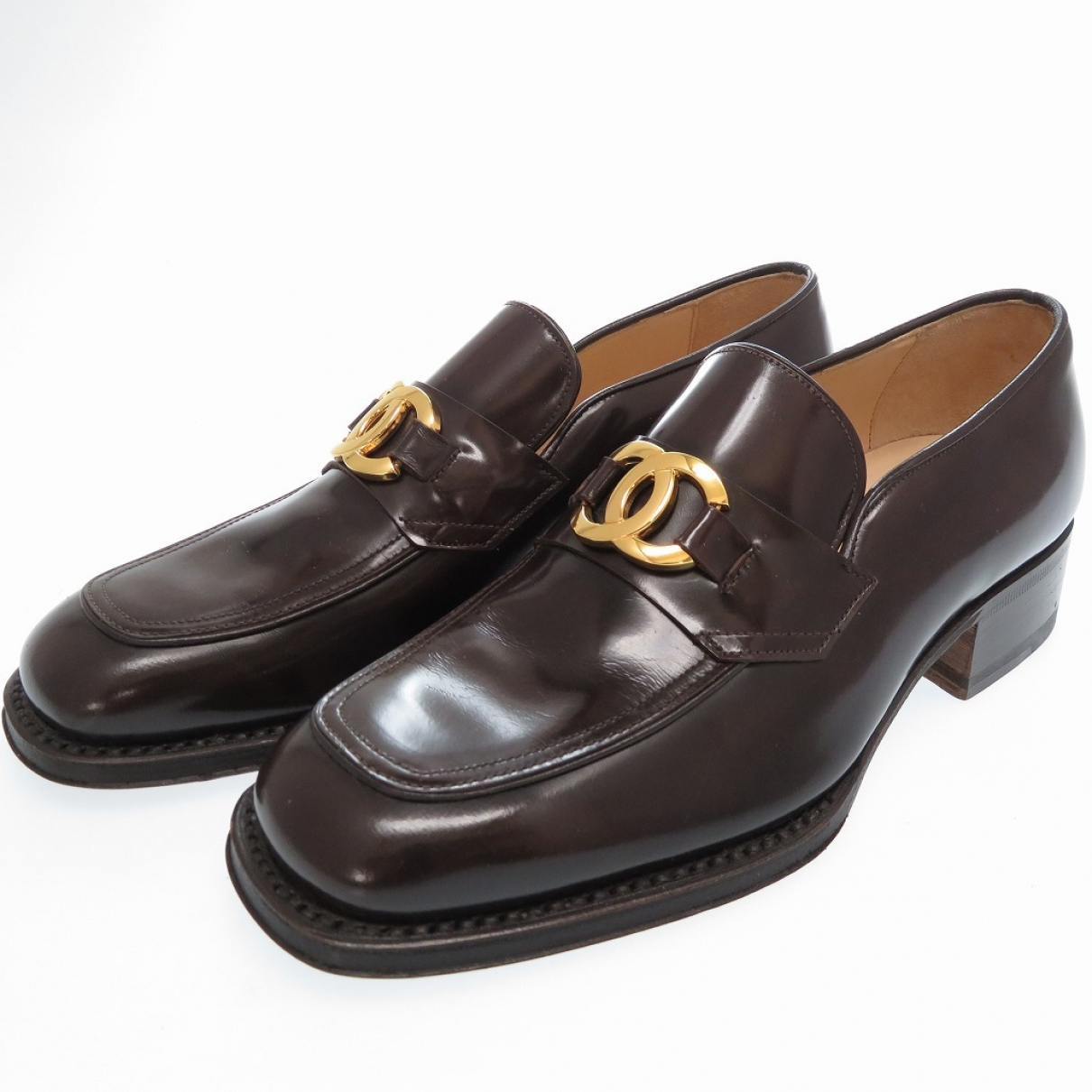Chanel \N Brown Leather Flats for Women 36 EU