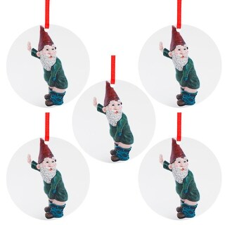 Christmas Funny Santa Claus Pattern Pendant Christmas Tree Decorations - 3.93x3.93x0.39 inch (C)