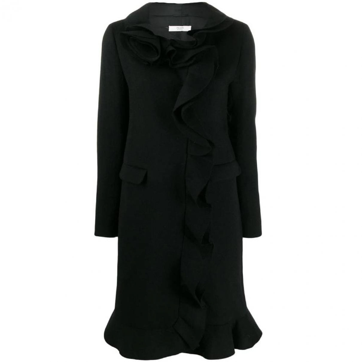 Prada \N Black Wool coat for Women 44 IT