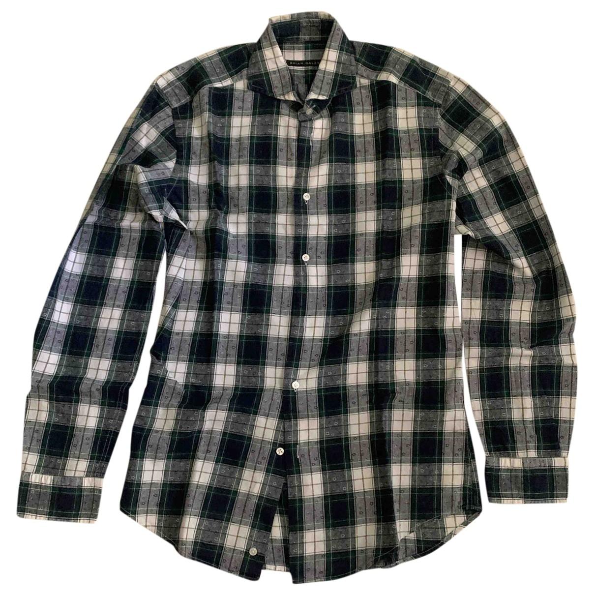 Non Signé / Unsigned \N Multicolour Cotton Shirts for Men 40 EU (tour de cou / collar)