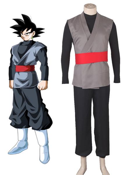Milanoo Dragon Ball Super Son Goku Kakarotto Halloween Cosplay Costume Black Halloween