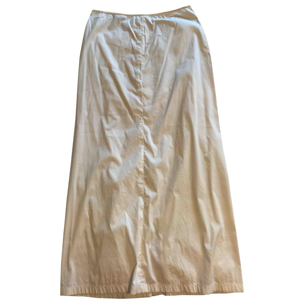 Jil Sander \N White Cotton skirt for Women 36 FR