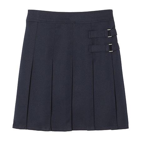 French Toast Little & Big Girls Adjustable Waist Scooter Skirt, 7 , Blue