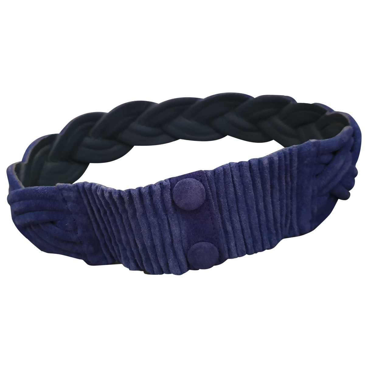 Valentino Garavani \N Blue Suede belt for Women 75 cm