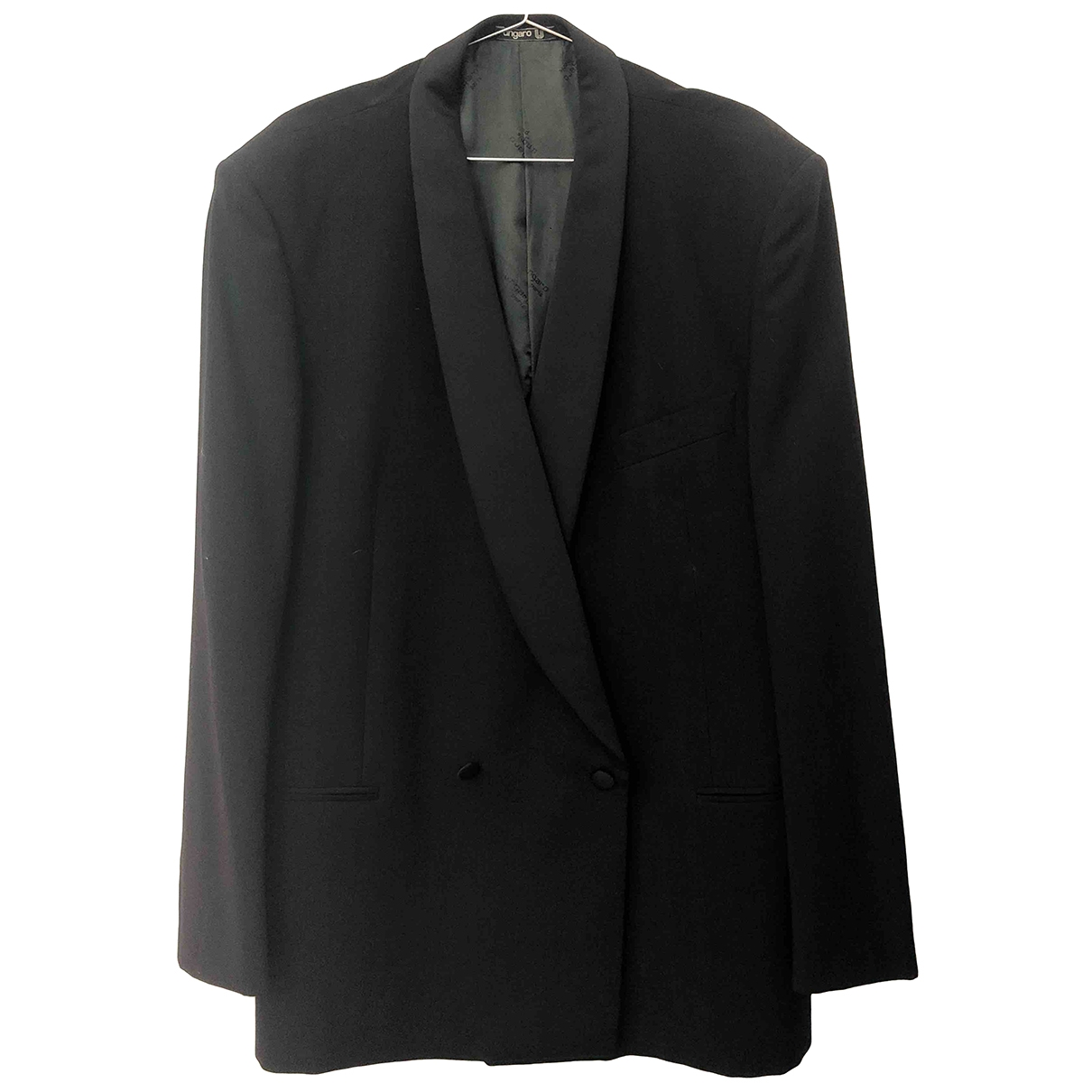 Ungaro Parallele \N Black Wool jacket  for Men 54 IT