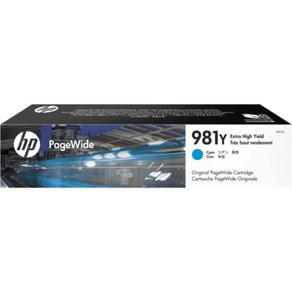 HP 981Y L0R13A cartouche d'encre PageWide originale cyan extra haute capacité