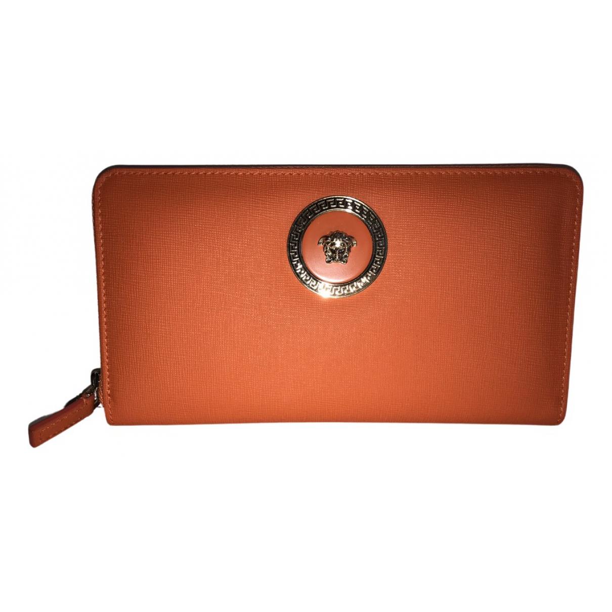 Versace \N Orange Leather wallet for Women \N