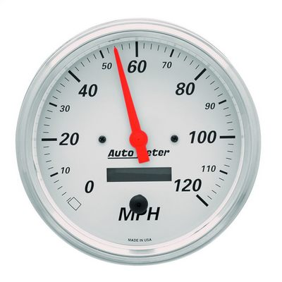 Auto Meter Arctic White Electric Programmable Speedometer, 5 Inch - AMG1389