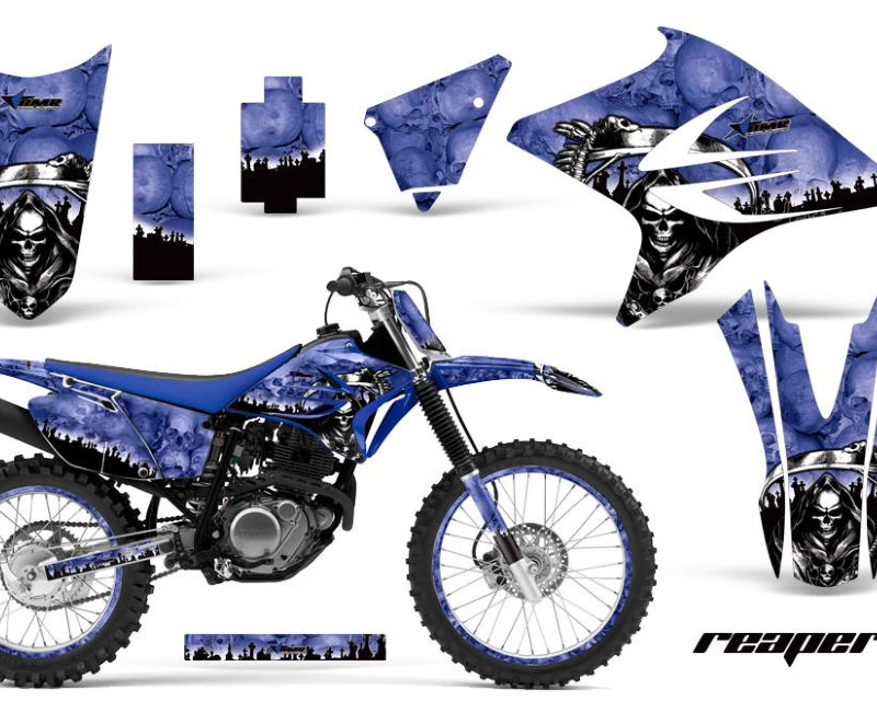 AMR Racing Graphics MX-NP-YAM-TTR230-05-18-RP U Kit Decal Sticker Wrap + # Plates For Yamaha TTR230 2005-2018 REAPER BLUE