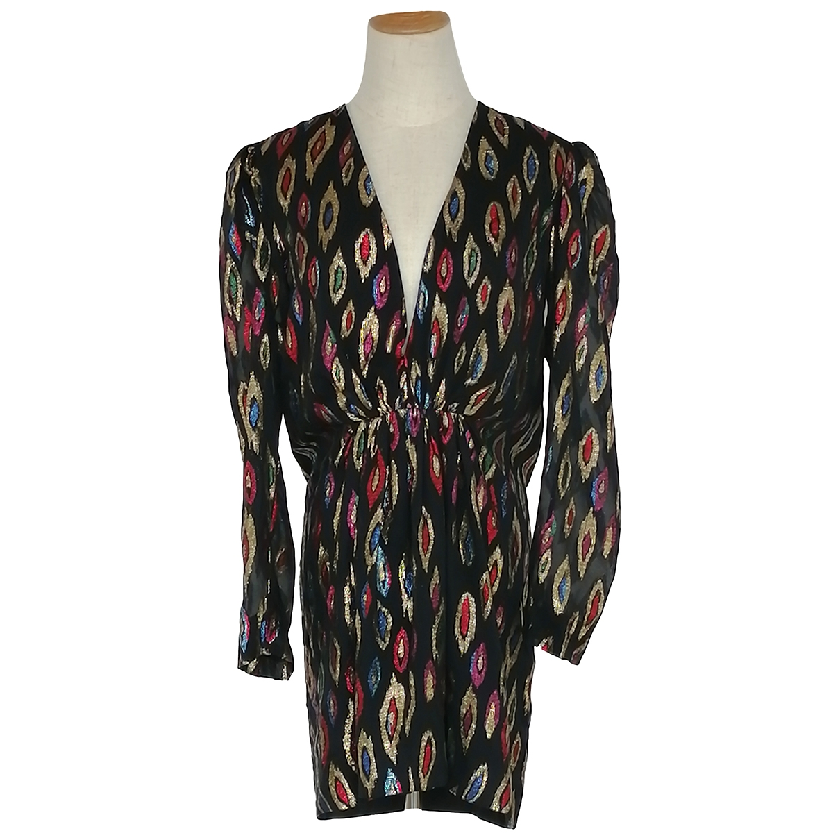 Saint Laurent \N Multicolour Silk dress for Women 40 FR
