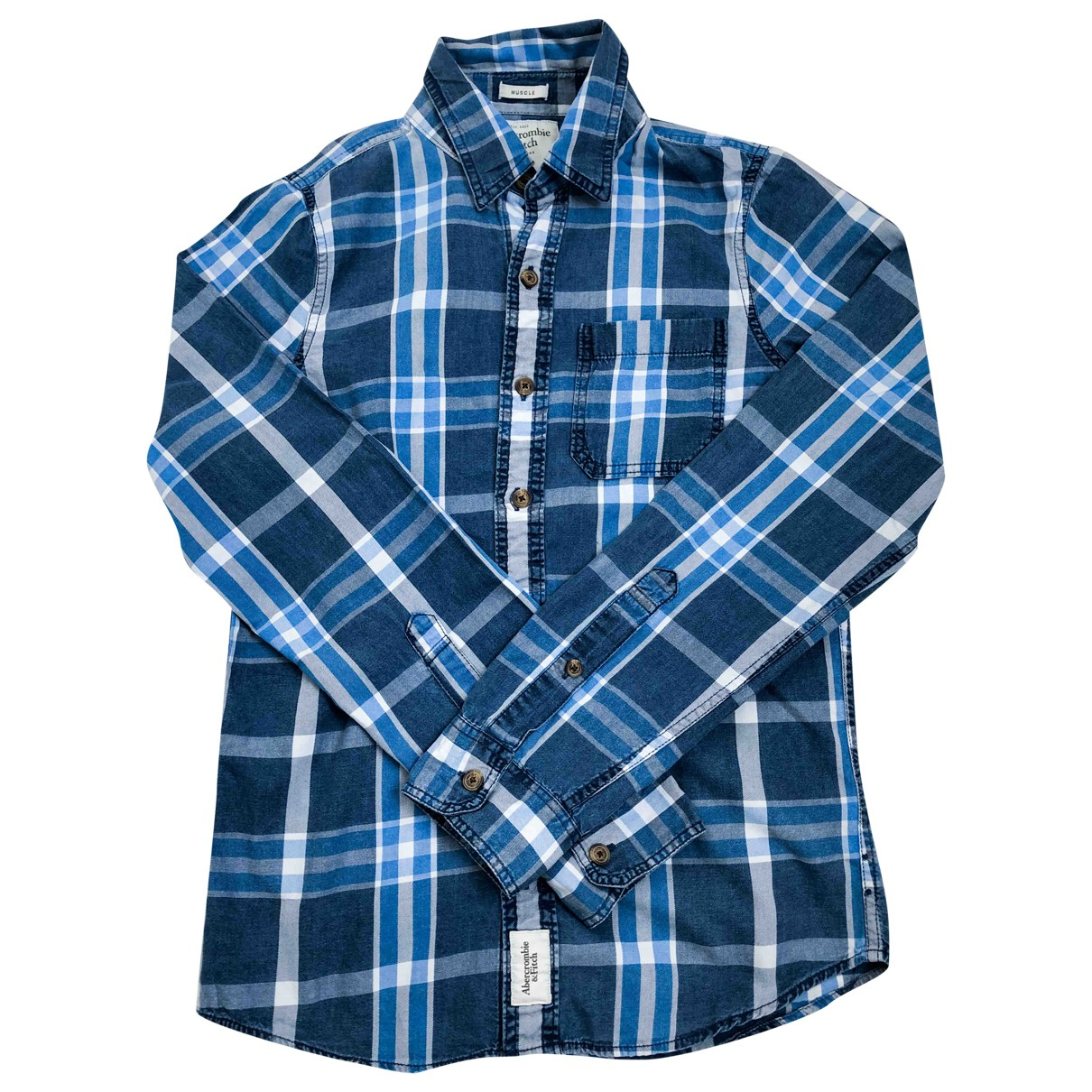 Abercrombie & Fitch \N Blue Cotton Shirts for Men S International