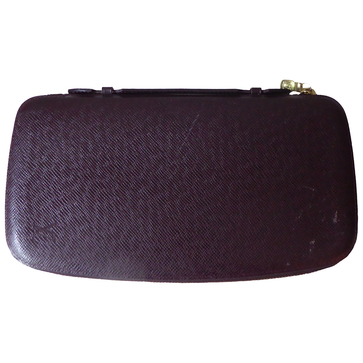 Louis Vuitton \N Burgundy Leather Small bag, wallet & cases for Men \N