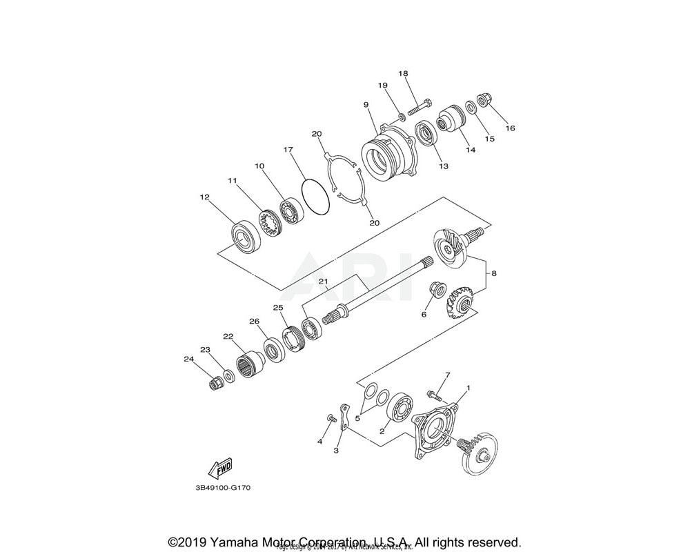 Yamaha OEM 5KM-17531-A0-00 SHIM, PINION (0.9T) | UR