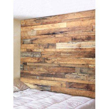 Retro Wood Pattern Wall Tapestry